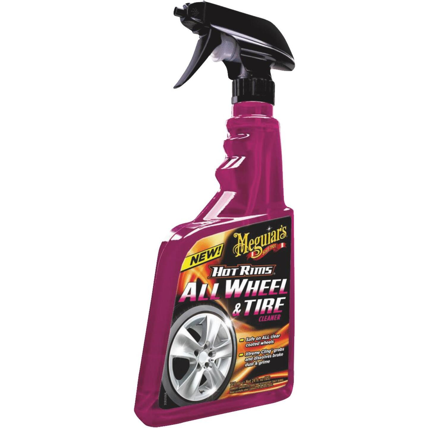 Meguiars Hot Rims 24 oz Trigger Spray Wheel Cleaner Image 1
