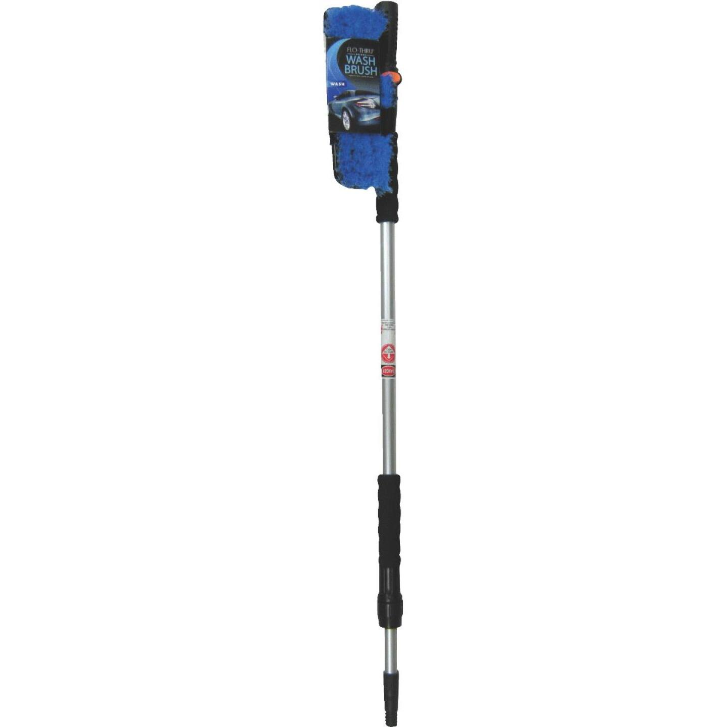 Viking 10 In. Deluxe Flo-Thru Wash Brush with 40 In. to 66 In. Telescoping Handle Image 1