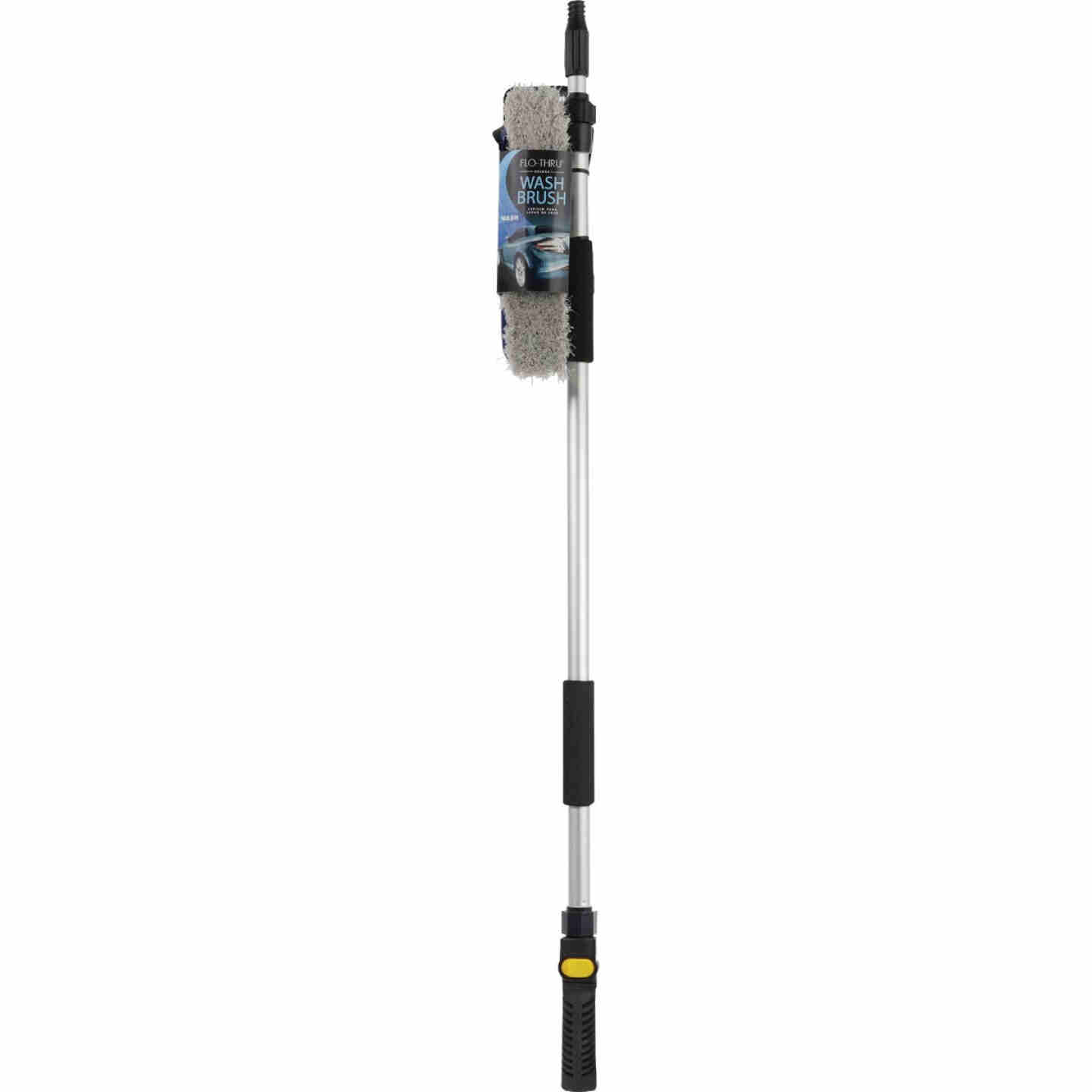 Viking 10 In. Deluxe Flo-Thru Wash Brush with 40 In. to 66 In. Telescoping Handle Image 2