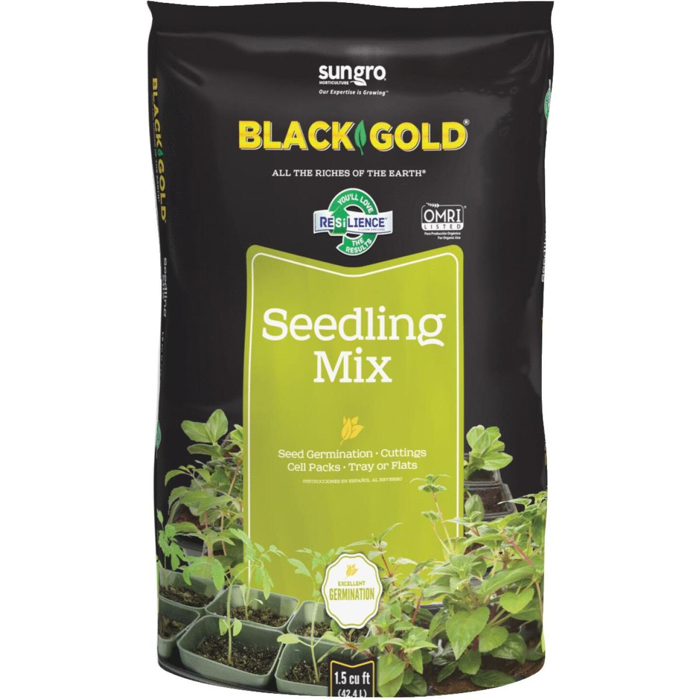Black Gold 1.5 Cu. Ft. 18 Lb. All Purpose Container Potting Seed Starting Mix Image 1