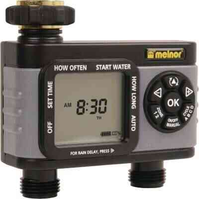 Melnor Hydrologic Electronic 2-Zone Day Specific Programmable Water Timer