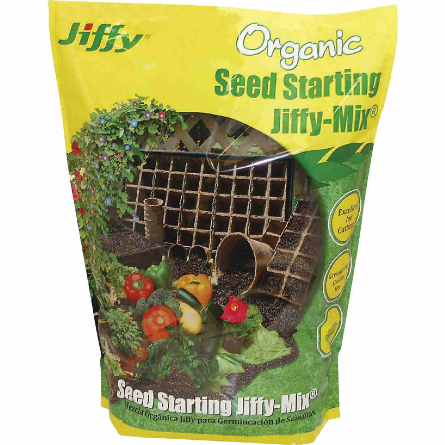 Jiffy 16 Qt. 8 Lb. All Purpose Container Organic Seed Starting Mix Image 1