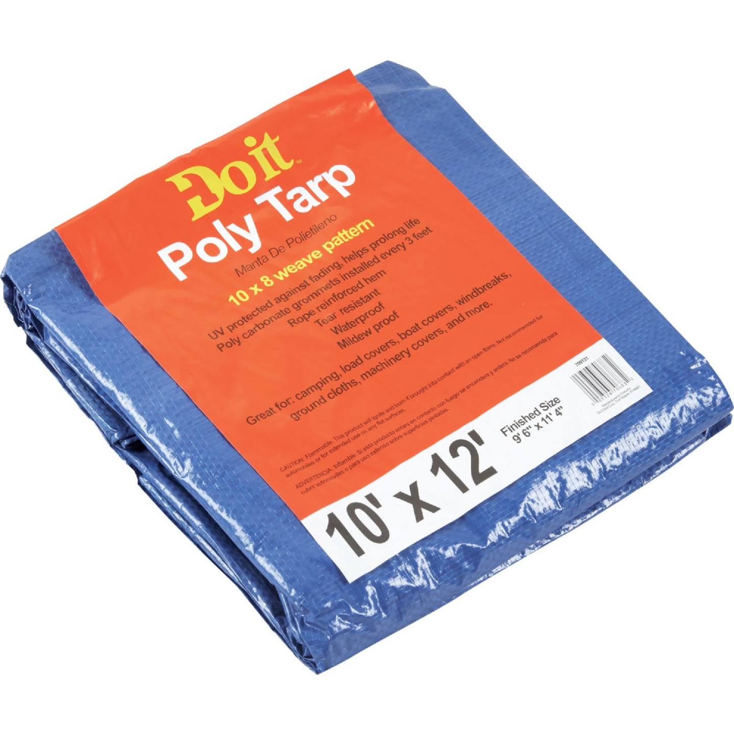 Do it Best Blue Woven 10 Ft. x 12 Ft. Medium Duty Poly Tarp Image 2