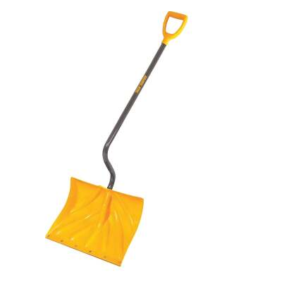 True Temper 18 In. Poly Snow Shovel with 40 In. Steel Handle