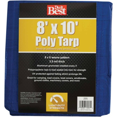Do it Best Blue Woven 8 Ft. x 10 Ft. General Purpose Tarp
