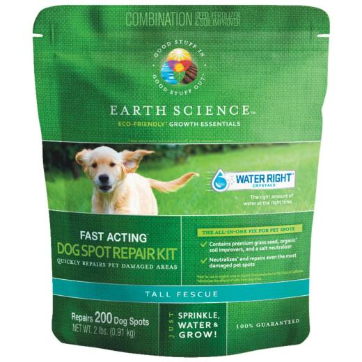 Earth Science 2Lb. Covers Up to 300 Dog Spots Triple Fescue Grass Patch & Repair