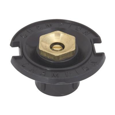 Champion Half Circle 1/2 In. FPT Deluxe Plastic Flush Head Sprinkler with Brass Nozzle