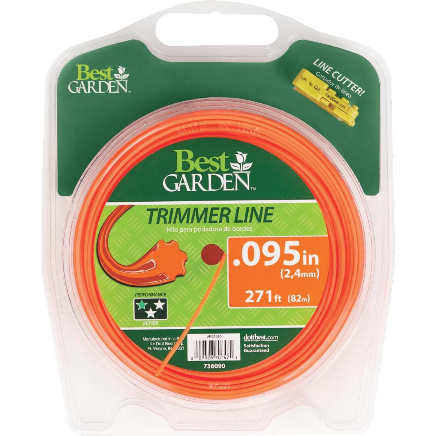 Best Garden 0.095 In. x 271 Ft. 7-Point Trimmer Line Image 1