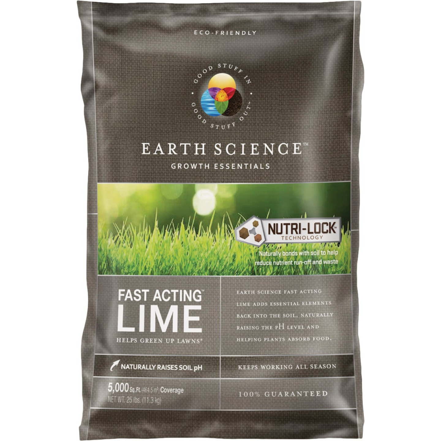 Earth Science Fast Acting 25 Lb. 5000 Sq. Ft. Coverage Lime Image 1