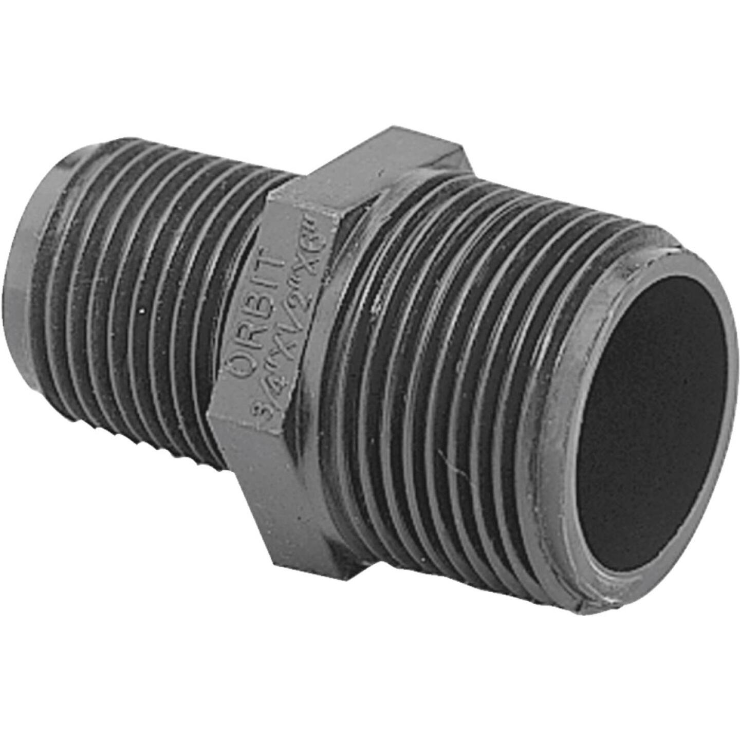 Orbit 1/2 In. x 3/4 In. MNPT Poly Extension Adapter Image 1