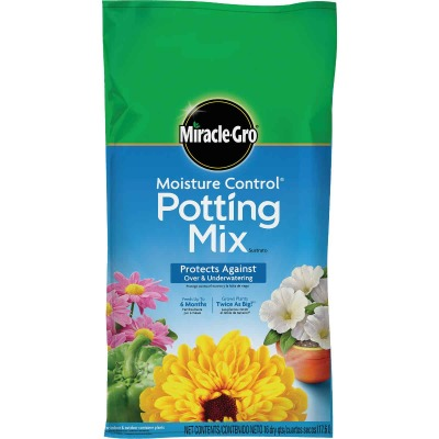 Miracle-Gro Moisture Control 16 Qt. 13 Lb. Indoor & Outdoor Potting Soil