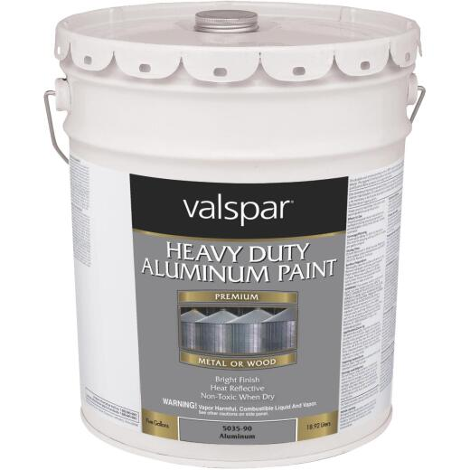 Valspar 5 Gal Aluminum HD Resin Finish Aluminum Paint