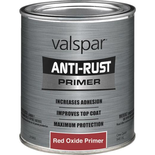 Valspar Anti Rust Primer, Red Oxide, 1 Qt.